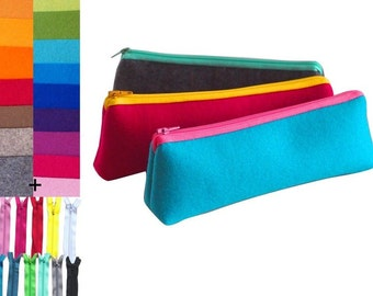 Pencil case, bag for pencil, wool, felt