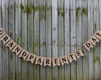 Custom Burlap Banner Grandparent's Day Burlap Banner Family Banner Reunion banner Custom burlap banner