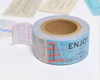 Ticket Stubs Washi Tape - Kamito