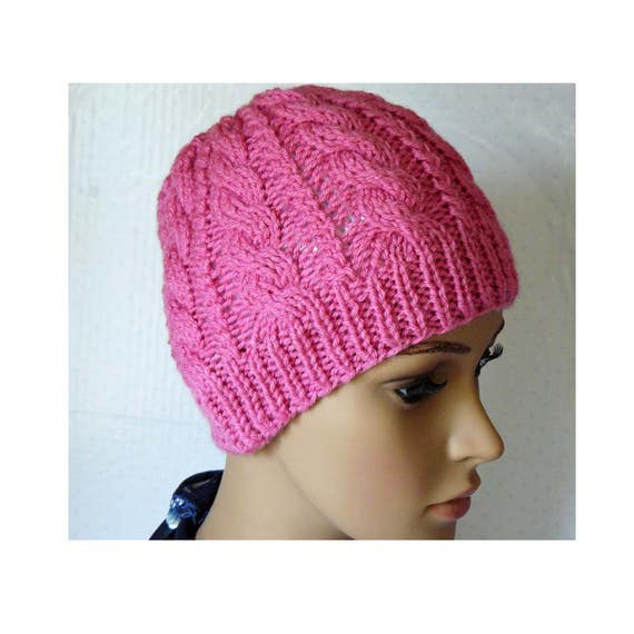 Knitting PATTERN Knitted Cable Beanie PDF Womens Braided