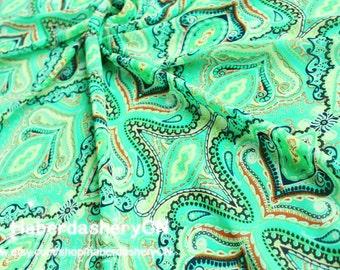 1 Meter Chiffon Fabric CH26B - Wonderful Paisley Ornament Embelishment