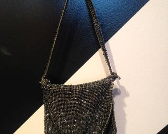 1920s beaded Silver Purse/pouch