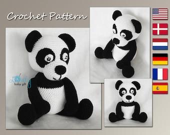 Panda Crochet Pattern, Animal Crochet Pattern, Amigurumi Panda, CP-137