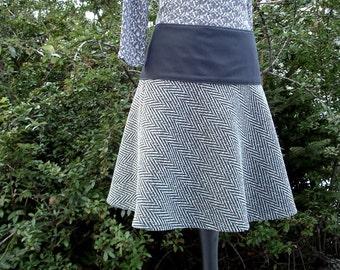 Skirt in Tweed and herringbone winter wool skirt ladies winter skirt wool skirt