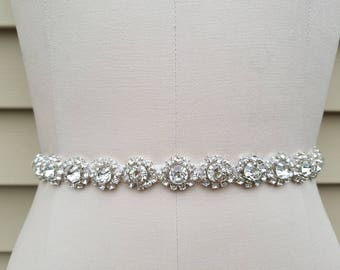 Wedding Belt, Bridal Belt, Sash Belt, Crystal Rhinestones- Style B3035