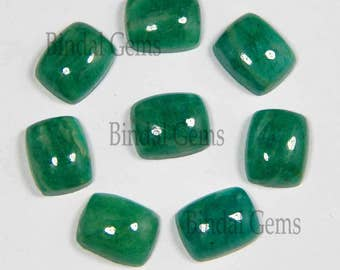 25 Pieces Finest Quality Lot Natural Amazonite Octagon Cushion Shape Smooth Polished Gemstone Cabochon