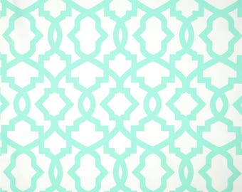 CLEARANCE One Decorative Throw Pillow Cover - Mint Trellis Pillow - Mint Green Pillow Cover - Mint Accent Pillow - Pillow Sham
