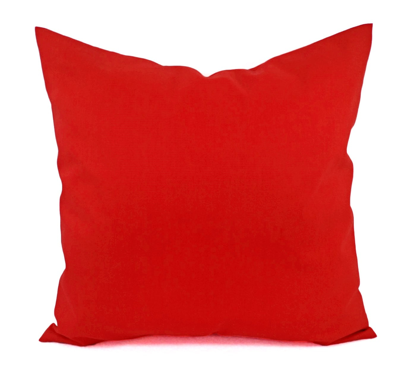Solid Red Pillow Cover Red Decorative Pillow Cover Linen