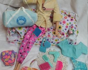 Barbie accessories. Barbie. Barbie clothes. Barbie bra. Barbie furniture. Barbie robe. Barbie couch. Miniatures. Barbie underware