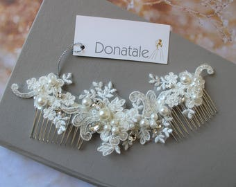 Wedding Hair comb with pearls - Bridal Headpiece - Wedding Headpiece - Bridal Hair piece - Bridal Hair Accessories - Bridal hair comb