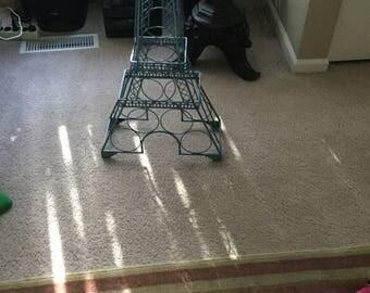 Metal Eiffel Tower wine holder