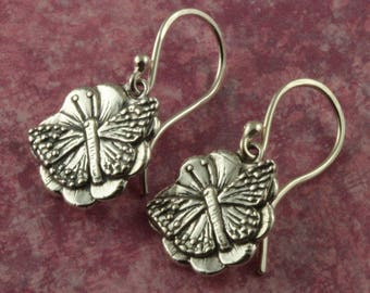 Sterling Silver Butterfly Earrings – Sterling Silver Earrings – Summer Jewelry Gifts – Summer Earrings – Butterfly Jewelry Sterling Earrings