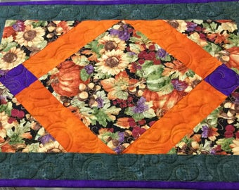Placemats, Quilted placemats , Fall placemats, Hostess gift, Thanksgiving decor, Holiday placemats, Sold in sets of two, Pumpking placemats,