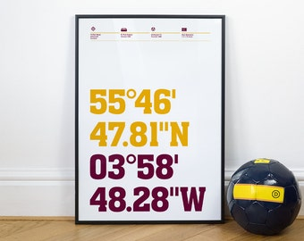 Motherwell Football Stadium Coordinates Posters