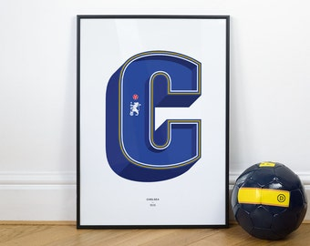 C is for Chelsea, Football Typography Print