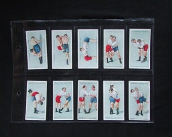 Complete set of Cigarette Cards of Wrestling Players full set of gorgeous 25 cards Tobacco cards all Original trade cards