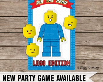 Custom LEGO Inspired Party Game Printable [INSTANT DOWNLOAD]