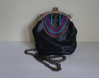Aztec Style Handbag, Faux Leather Bag, Ladies Handbag.