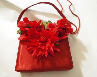 borsa piccola in rosso tanti papaveri
