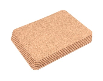 Rectangular Cork Placemats Table Mats Dining - Pack of 6