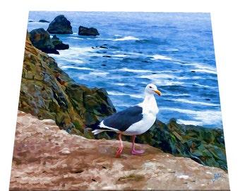 Bodega Gull #1 Ceramic Trivet/Decorative Tile - 2 sizes