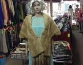 Light Brown Mink Fur Stol...