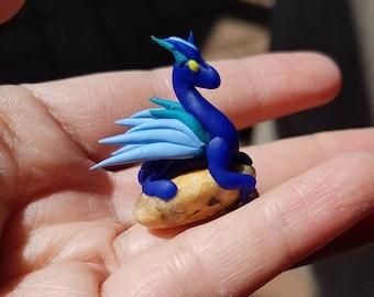 Blue Miniature Dragon and Chrysoprase