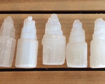Selenite Healing Stone, Selenite Mini Sky Tower, Healing Crystal, Spiritual Stone, Meditation, Selenite Tower, Chakra Stone