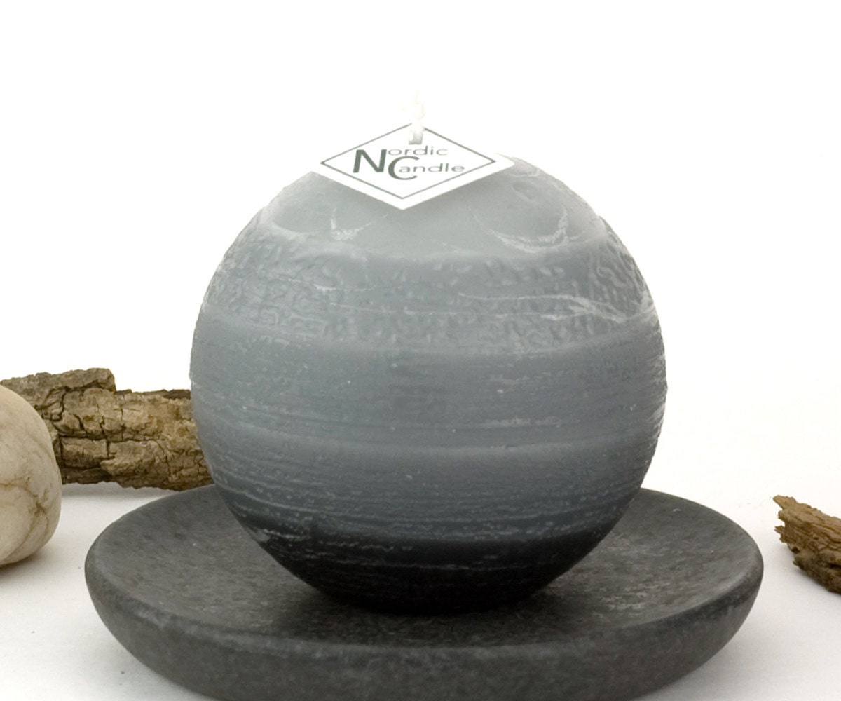 Gray Ball Candle 3 Rustic Striped Candles Round Grey : ilfullxfull11815675696qhb from www.etsy.com size 1200 x 1000 jpeg 109kB