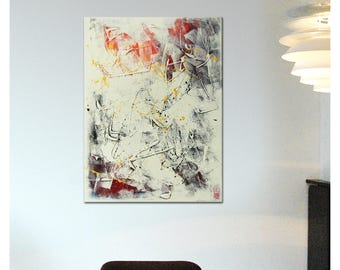 Acrylic Painting, Canvas Wall art, White on White - j14, Abstract Painting, Modern Art, Wall decor, Landscape painting