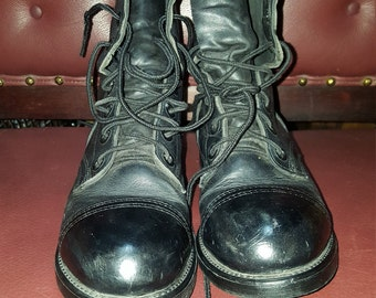Womens  Steampunk Goth Boots Size 7.5