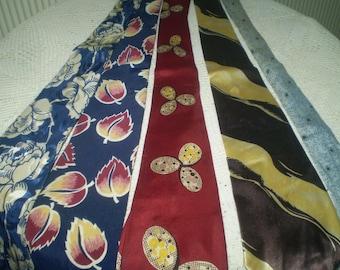 Five Vintage Men's neck ties- lot of older neckties- five funky neckties- Oldies neck ties- men's  neckwear- old ties