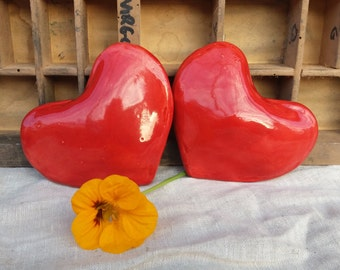 Heart for Christmas decorations / Cuore 3d che suona / decorazioni per Natale / regalo per lei / red heart sounds / heart ornament