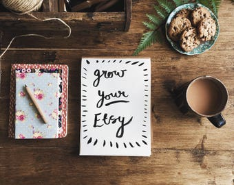 Grow your Etsy  - a course to build a successful online shop, etsy marketing and business advice - etsy shop help