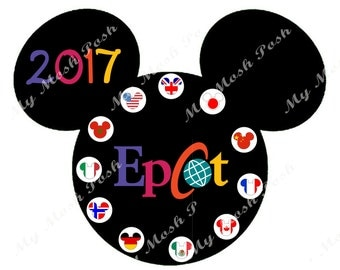 Disney vacation Epcot Iron on transfer Digital file 2017