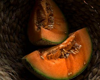 Chiaroscoro Photography, Still Life Photography, Food Photography, Orange, Cantaloupe, Kitchen Photos