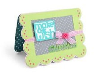 Sizzix Framelits Drop-ins Cutting Dies - CARD SCALLOP with BANNER 560147 cc03