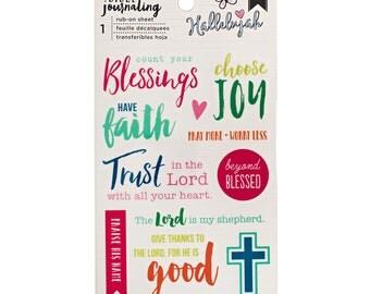 Bible Journaling Rub-Ons HALLELUJAH by American Crafts Bible Journaling Rub-ons 1 Sheet 378675 1.cc1x