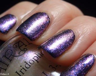 Iridophore. Color-shifting/sparkling topcoat nail polish. (15 mL, .5 oz)