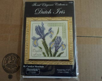 Serendipity Designs By:  Carolyn Meacham  Floral Elegance Collection  Dutch Iris Kit L-213