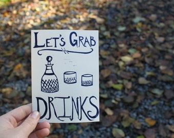 Let's Grab Drinks Greeting Card