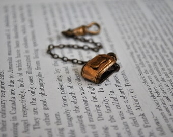 Antique Gold Filled Watch Fob - Vintage 1910s Rose Gold Filled Chain