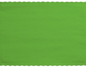 Creative Converting 50 Count Touch of Color Paper Placemats  Fresh Lime 10inx14in