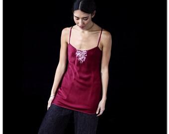 Silk Negligee, Sleepwear, Natural Dyes, Luxurious Tunic, Eco Fashion
