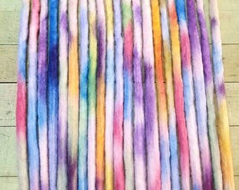 Wool Dreadlocks Set of 25 Dreads Tye Dye  Dreads Wrapped Dreads