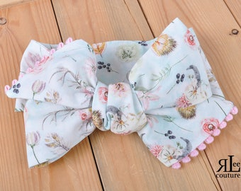 Western Lullaby Headwrap - Bow Headwrap - Head Wrap - Baby Headwrap - Hair Bow