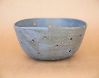 Wedding gift, handmade pottery, berry Bowl, ceramic colander, ceramic berry bowl, modern bowl, minimalist bowl, wedding gift, made for order