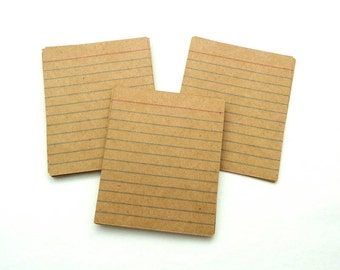 Mini Kraft Index Cards - Index Cards - Set of 24 - Journaling Card - Journal Spot - Kraft Embellishment - Brown Index Cards