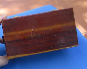 Vintage Cedar Souvenir  Syracuse NY  Wood Box TLC