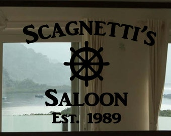 "Custom Family Nautical Ship Wheel Saloon Vinyl Wall Quote Sticker Decal 22""h x 28""w- 34""w"